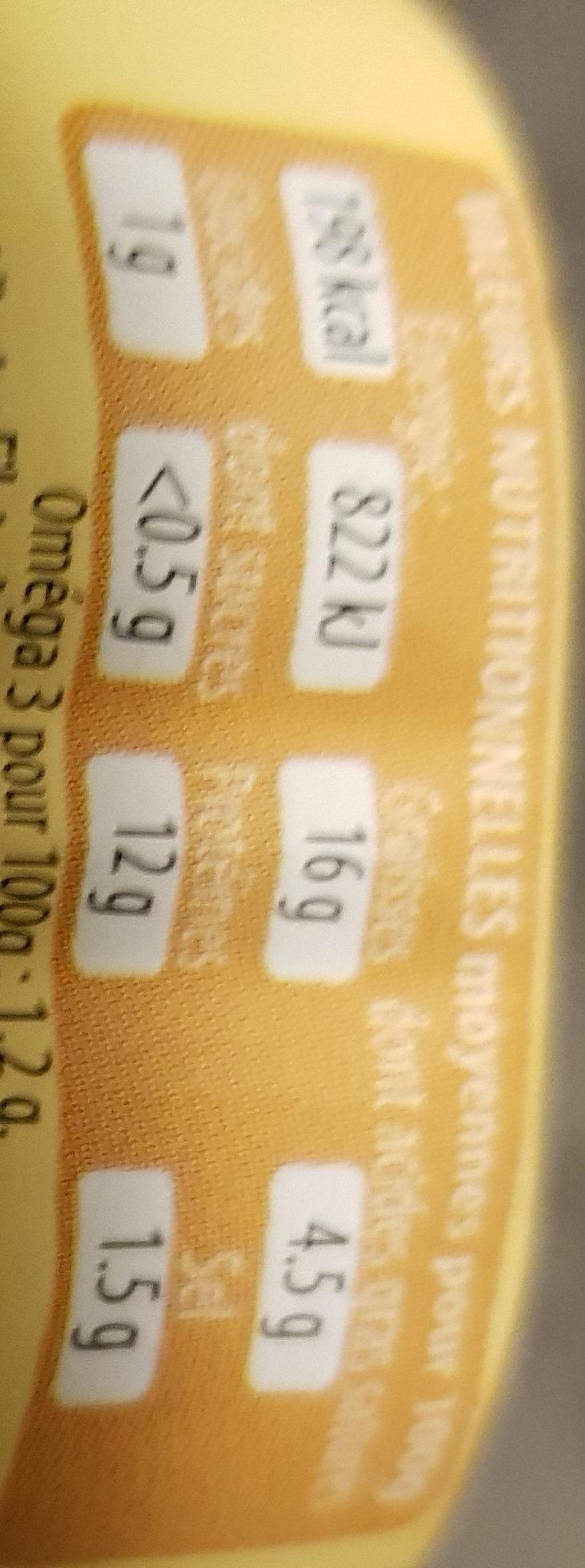 filets de maquereaux sauce crème moutarde - Informations nutritionnelles - fr