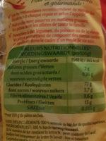 farfalle - Nutrition facts - fr
