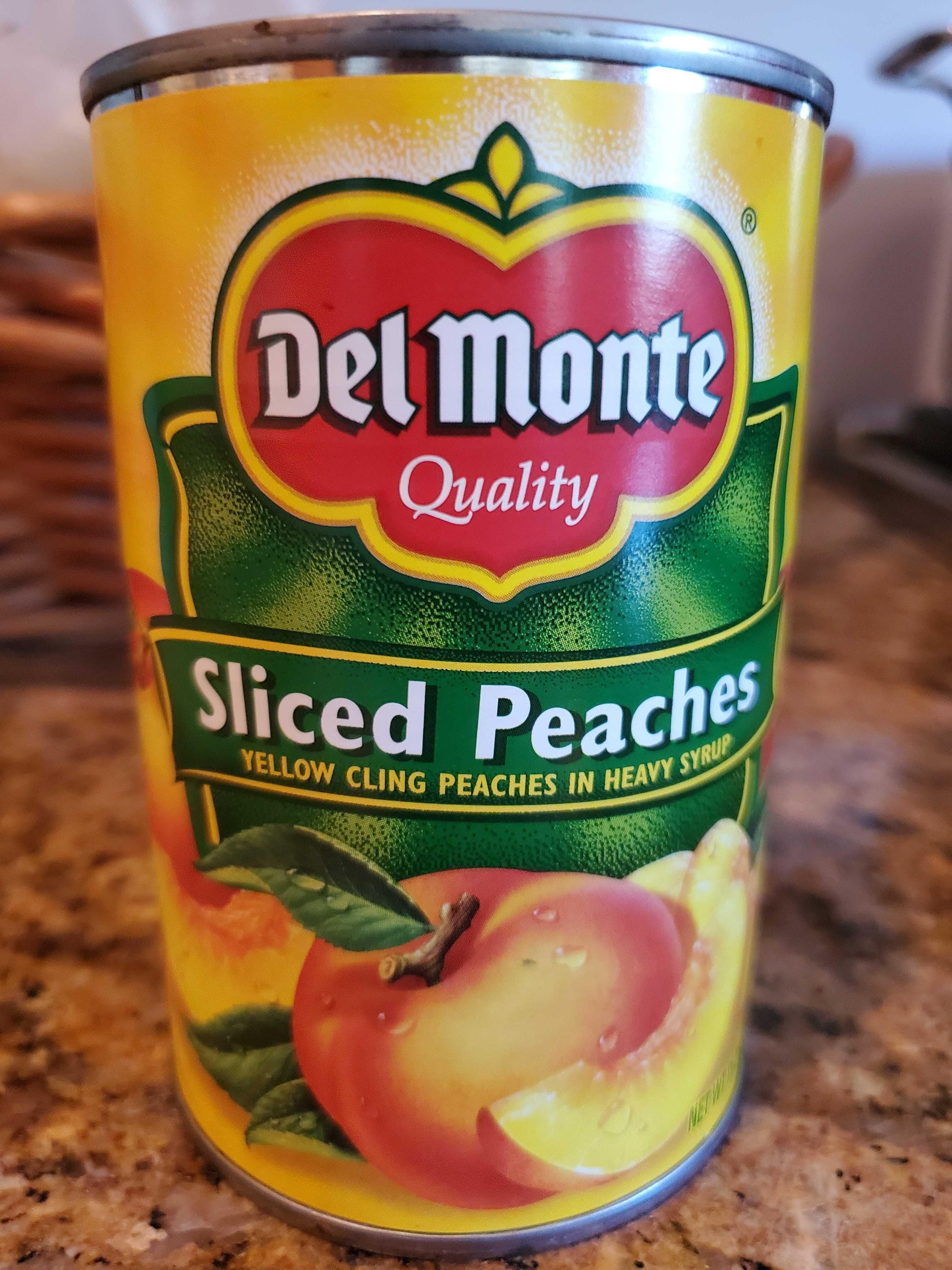 Del Monte Sliced Peaches - Produit - en