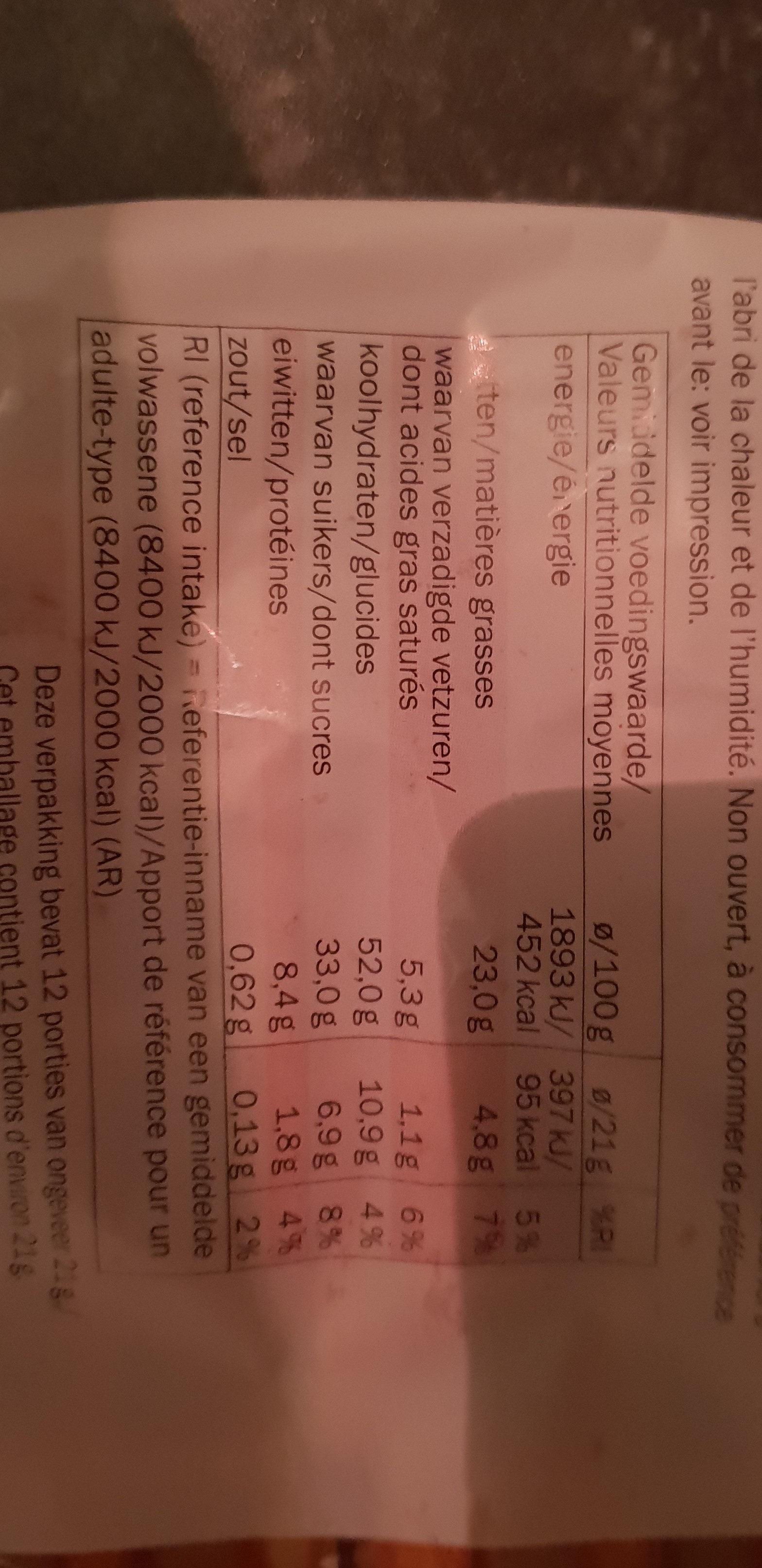 firenze confiserie - Voedingswaarden - fr