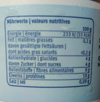 Magerquark - Nutrition facts - de