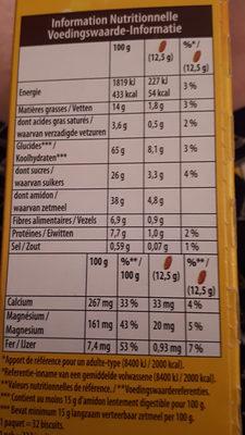 Belvita - Informations nutritionnelles - fr