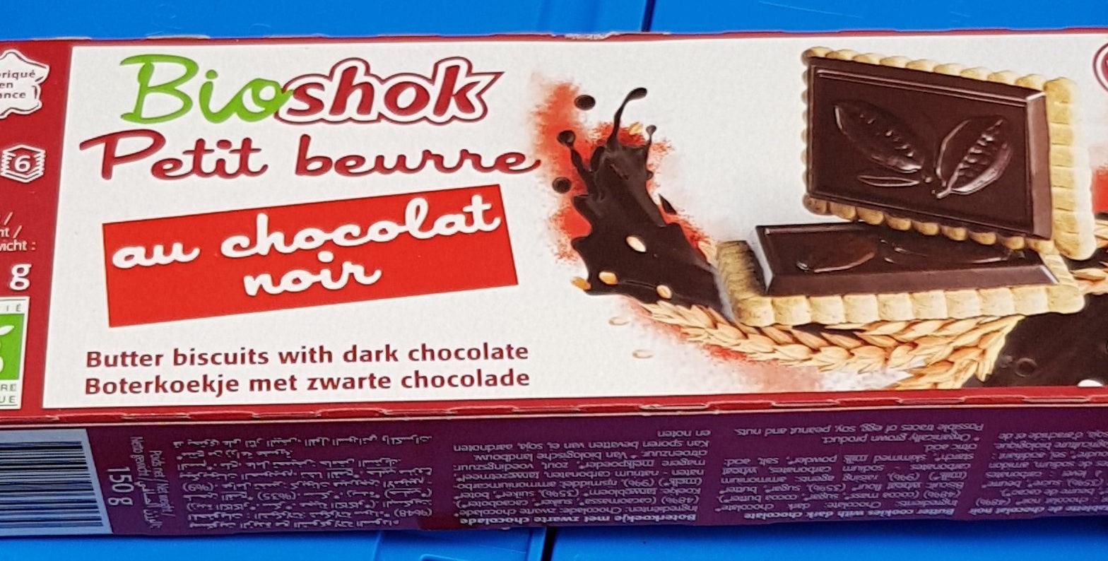 Petit beurre au chocolat noir - Produit - fr