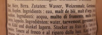 Hefe-Weißbier - Naturtrüb - Ingrédients - de