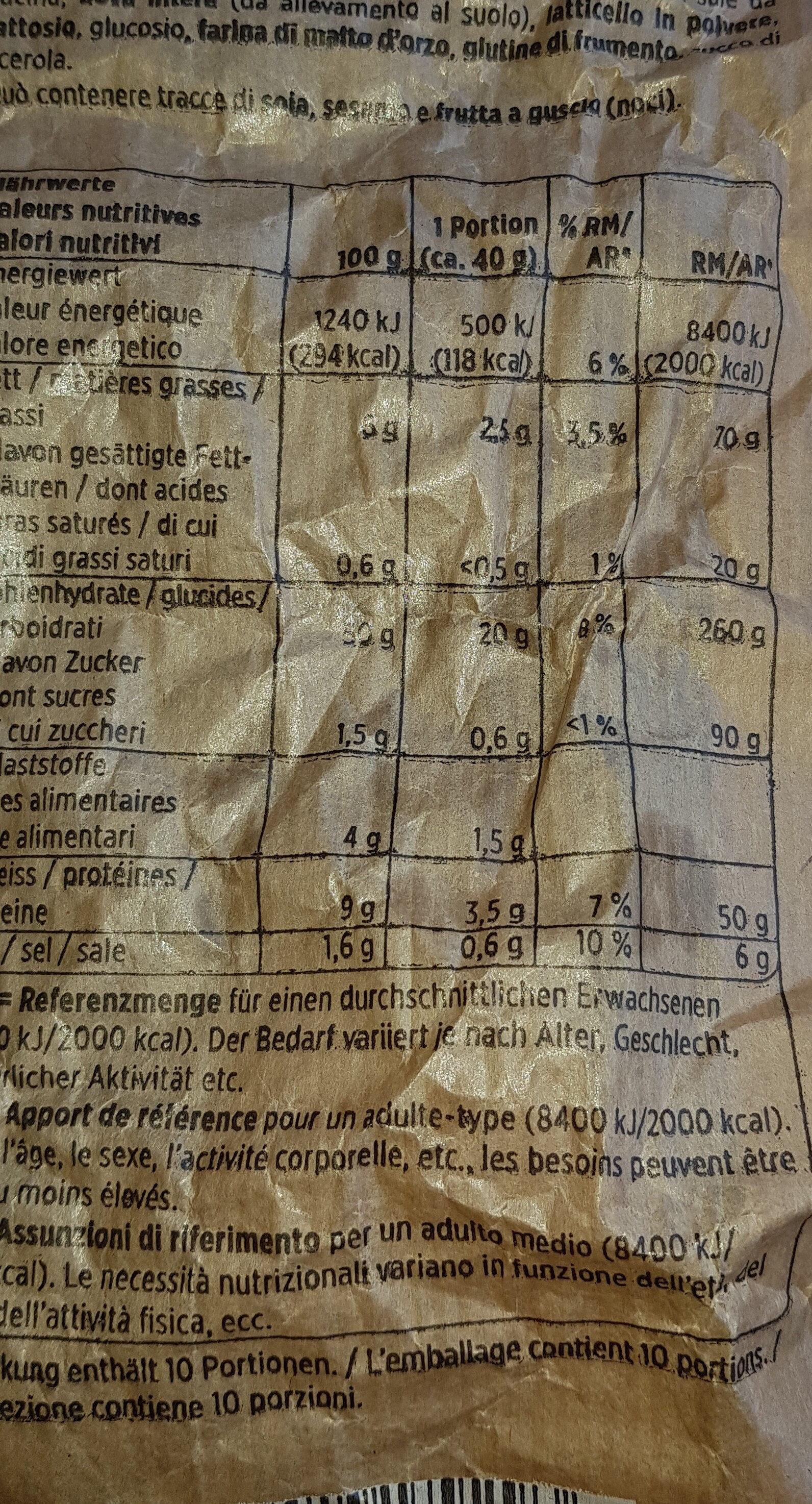 pain tessinois - Ingredients - fr