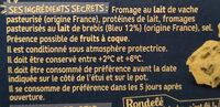 Rondelé au bleu - Ingredients - fr