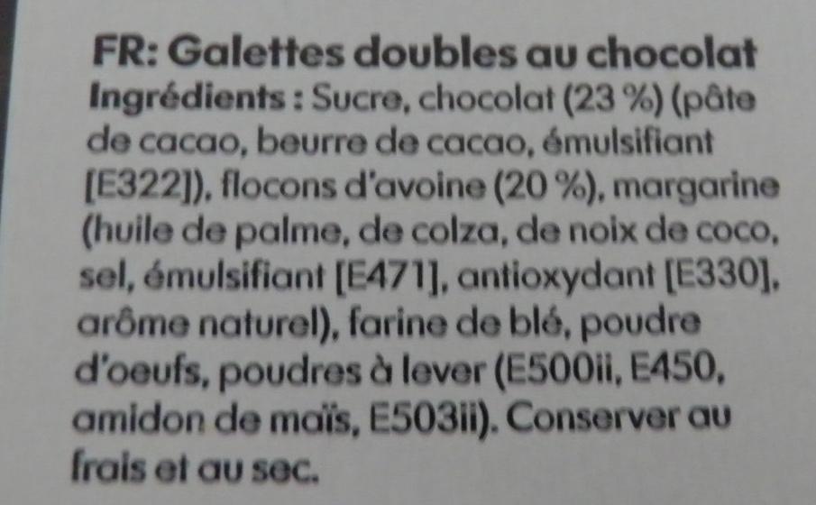 Galettes doubles au chocolat - Ingrédients - fr