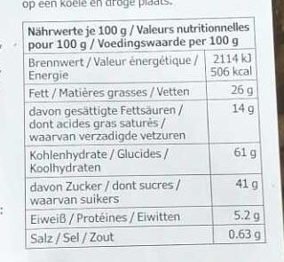 Galettes doubles au chocolat - Informations nutritionnelles - fr