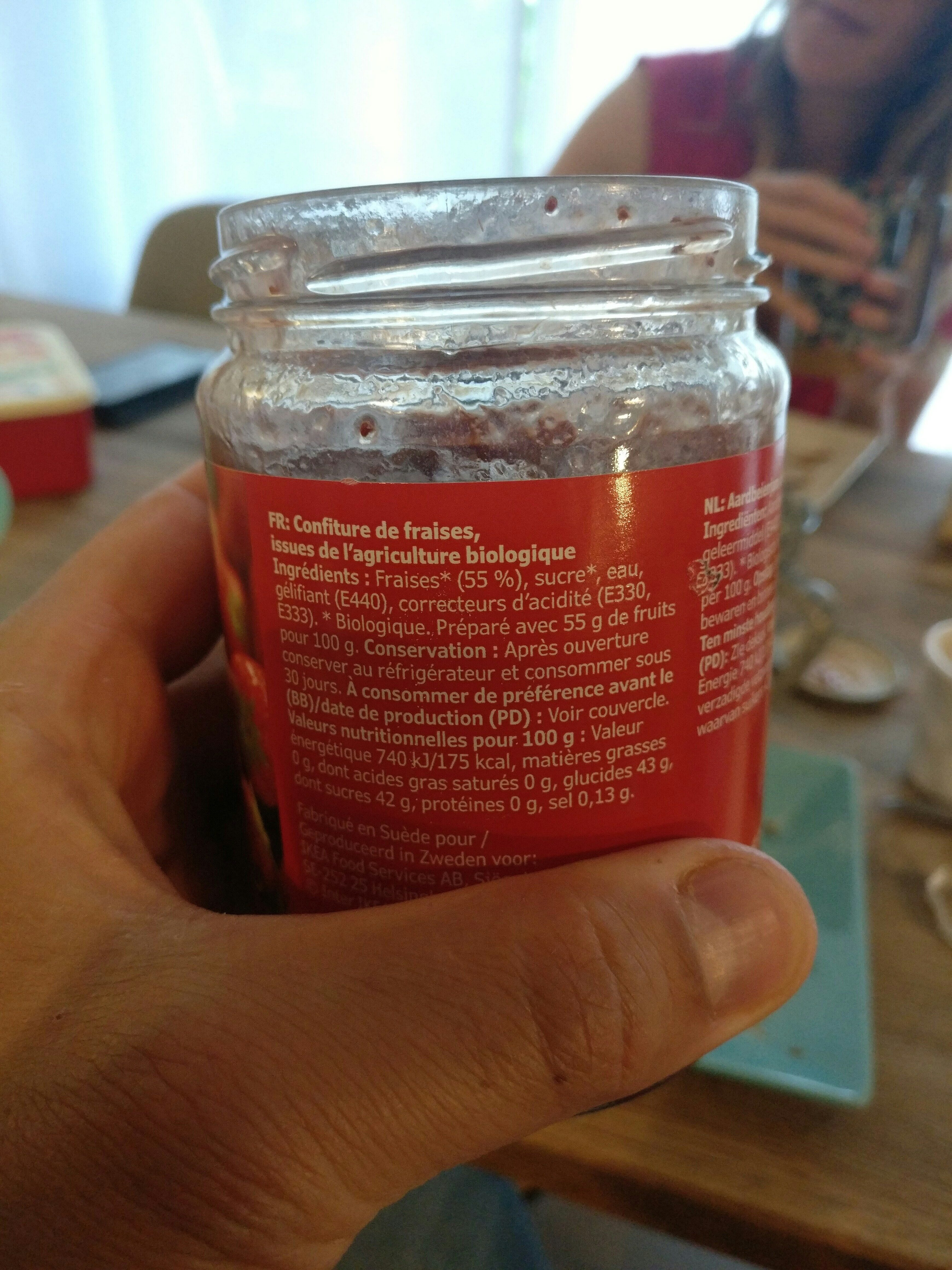 Ekologisk sylt jordgubb strawberry jam - Ingredients - en