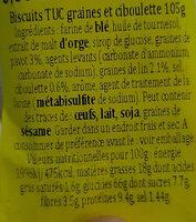 TUC Graines et Ciboulette - Ingrediënten - fr