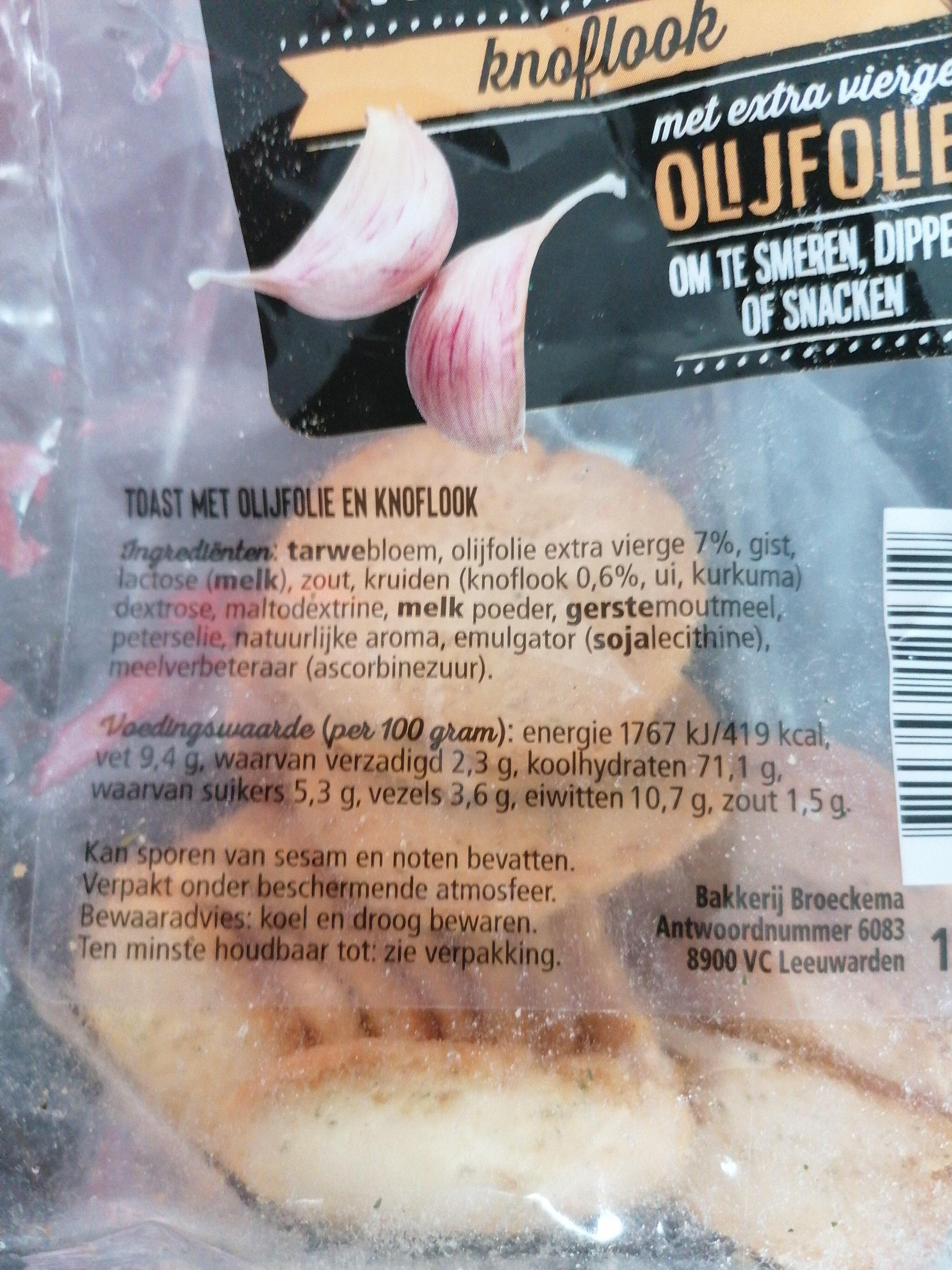 Borrel Toast klassiek knoflook - Ingrediënten - nl