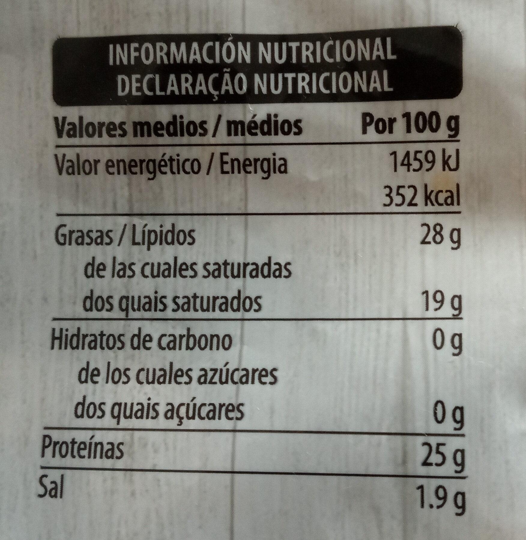 4 quesos - Voedingswaarden - es
