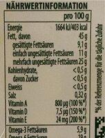 Omega 3 sel de mer - Nutrition facts - fr