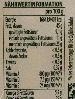 Omega 3 sel de mer - Nährwertangaben