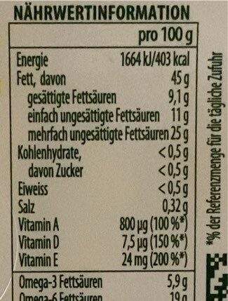 Omega 3 sel de mer - Informations nutritionnelles - fr