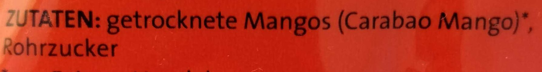 Mango getrocknet in Streifen - Zutaten