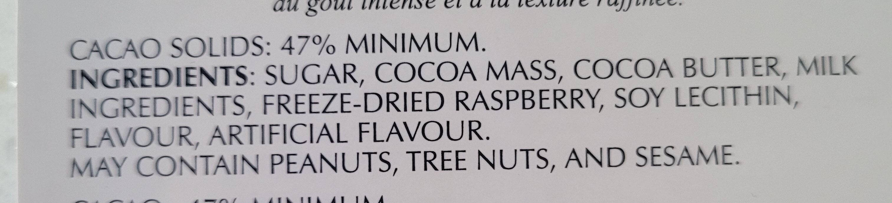 Raspberry Dark - Ingrédients - en