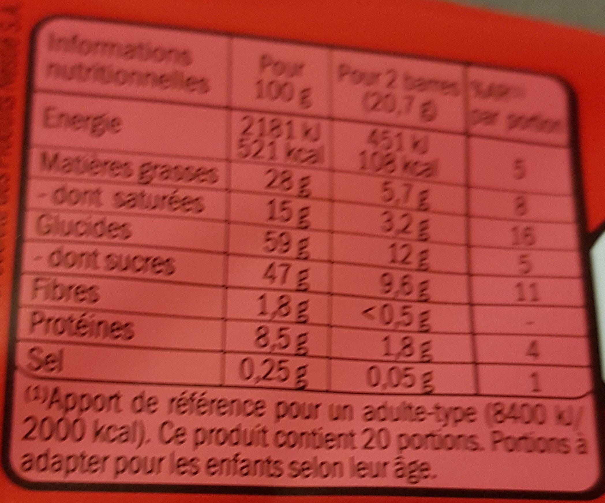 kitkat - Informations nutritionnelles - fr