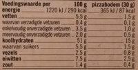 Steenoven Mini Pizza's - Voedingswaarden - nl