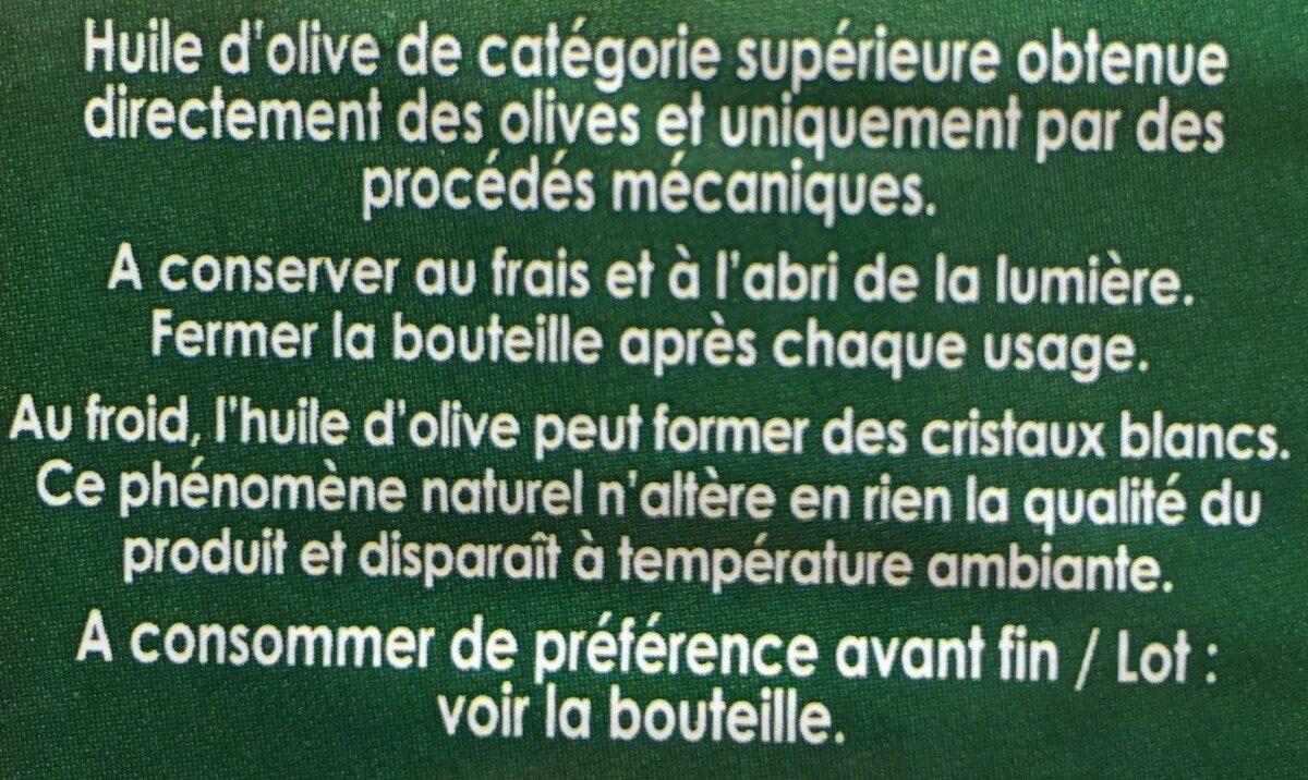 Huile d'olive - Inhaltsstoffe - fr