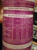 Huile d'olive - Nährwertangaben - fr