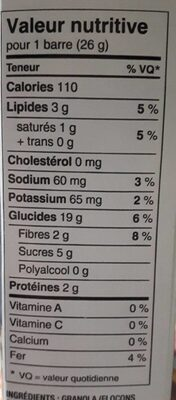 Chewy - Informations nutritionnelles - fr