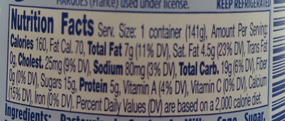 Oui - Nutrition facts