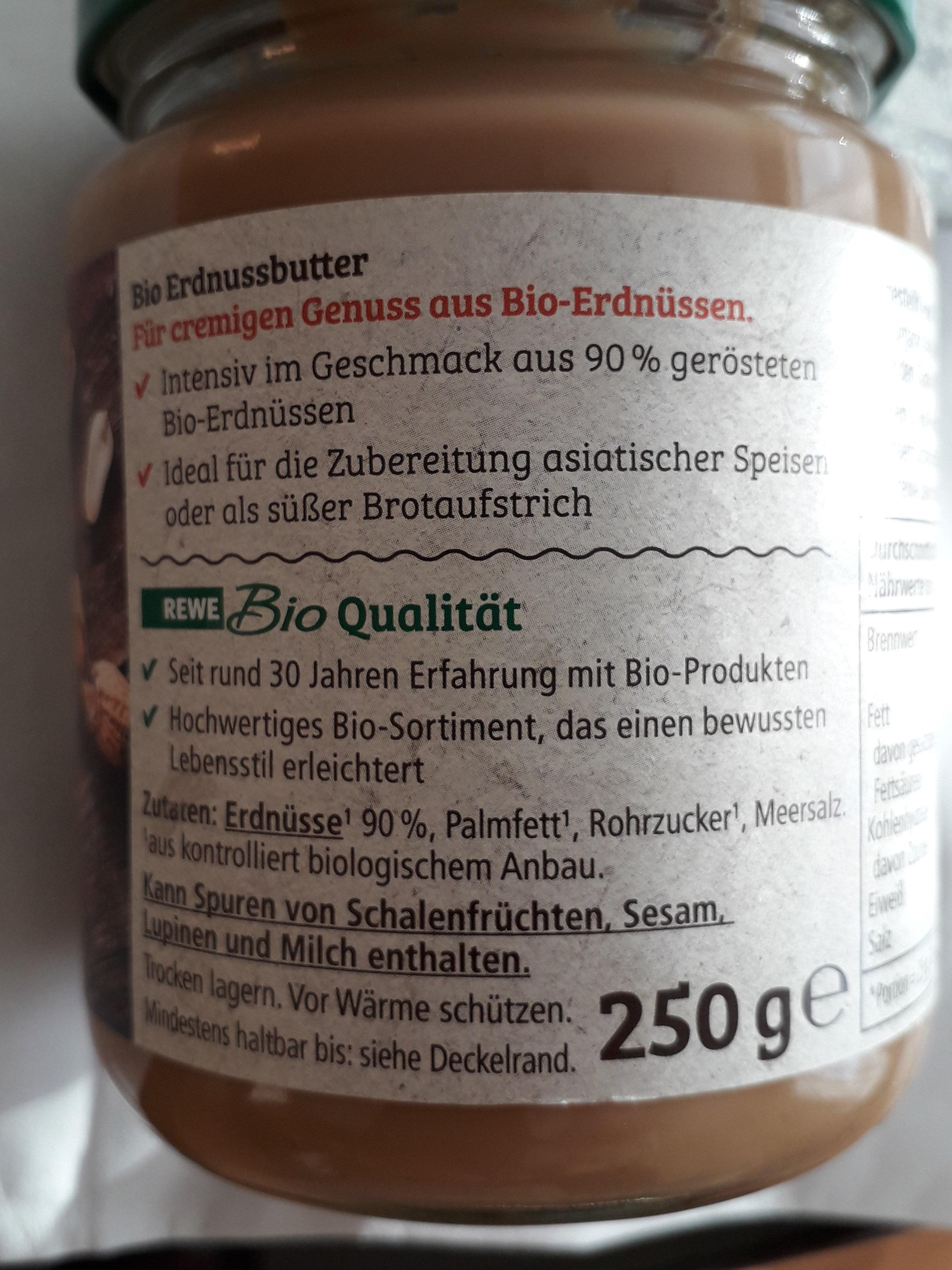 REWE Bio creamy Erdnussbutter - Ingredients - de