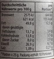 REWE Bio creamy Erdnussbutter - Nutrition facts - de