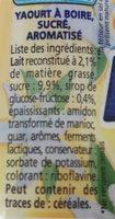 Yop vanille - Ingredients - fr