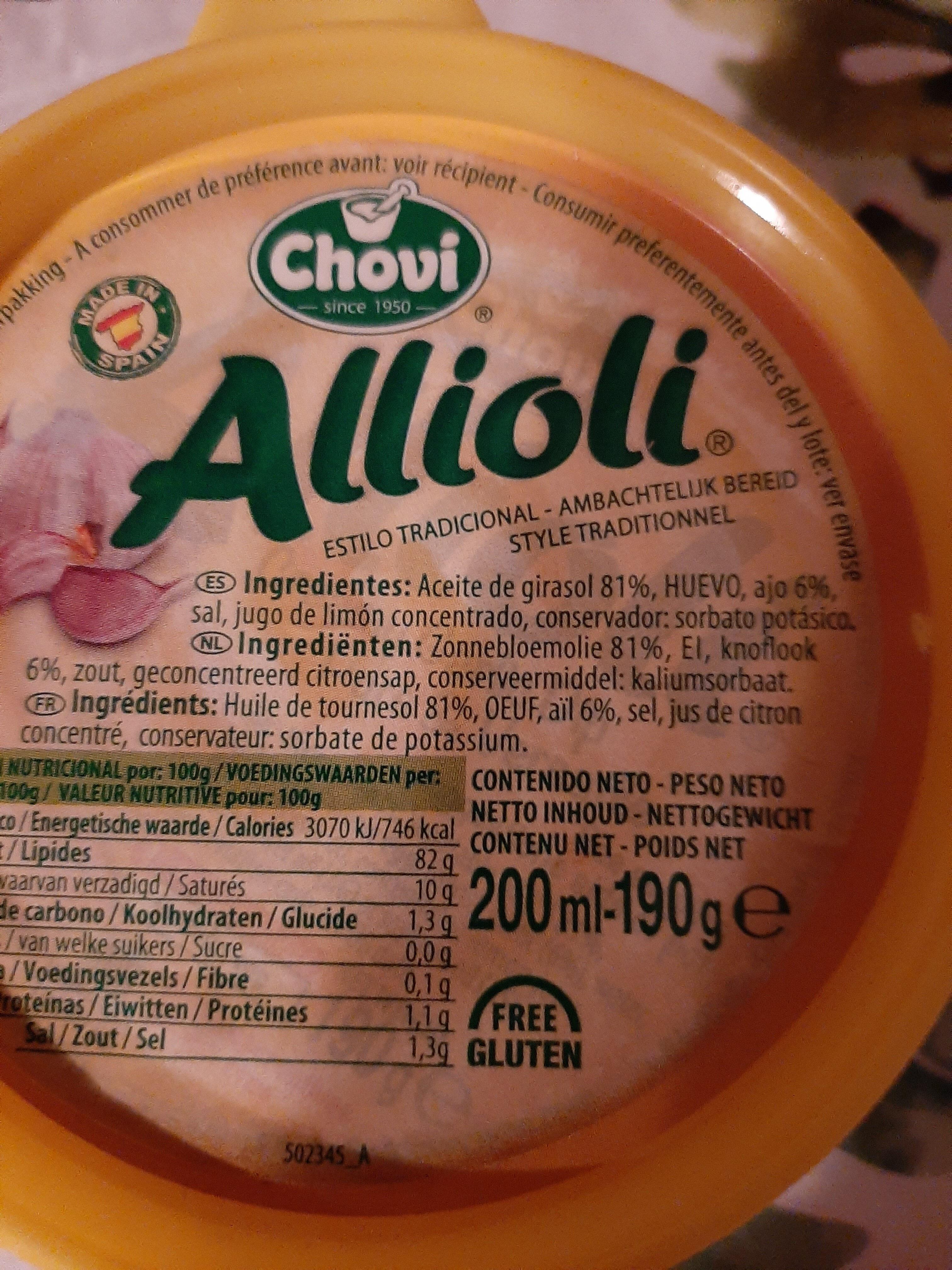 allioli - Ingredients - nl