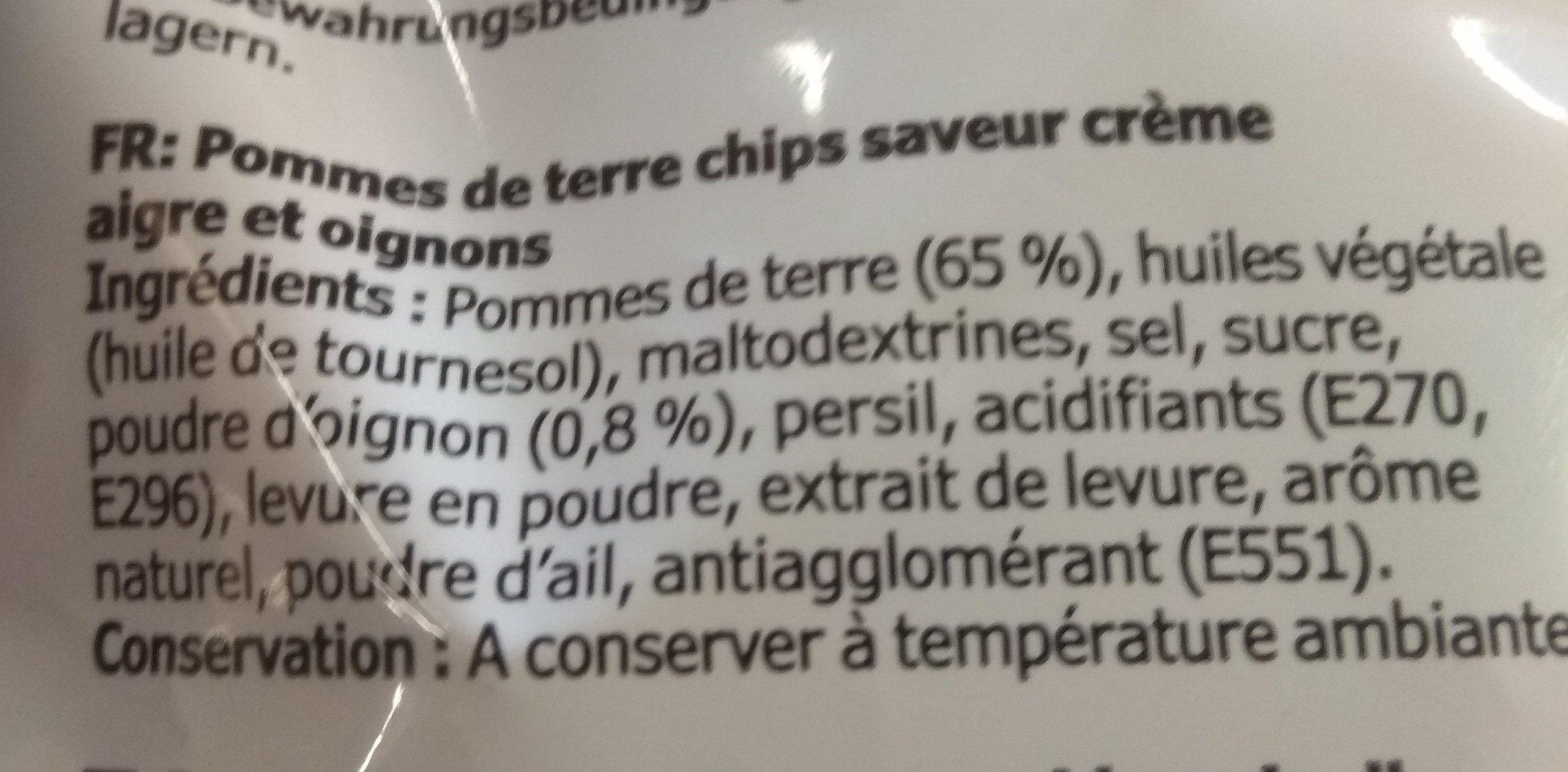 Potatoes chips - Ingrédients
