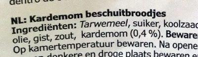 Skorpor kardemumma - Ingrediënten - nl