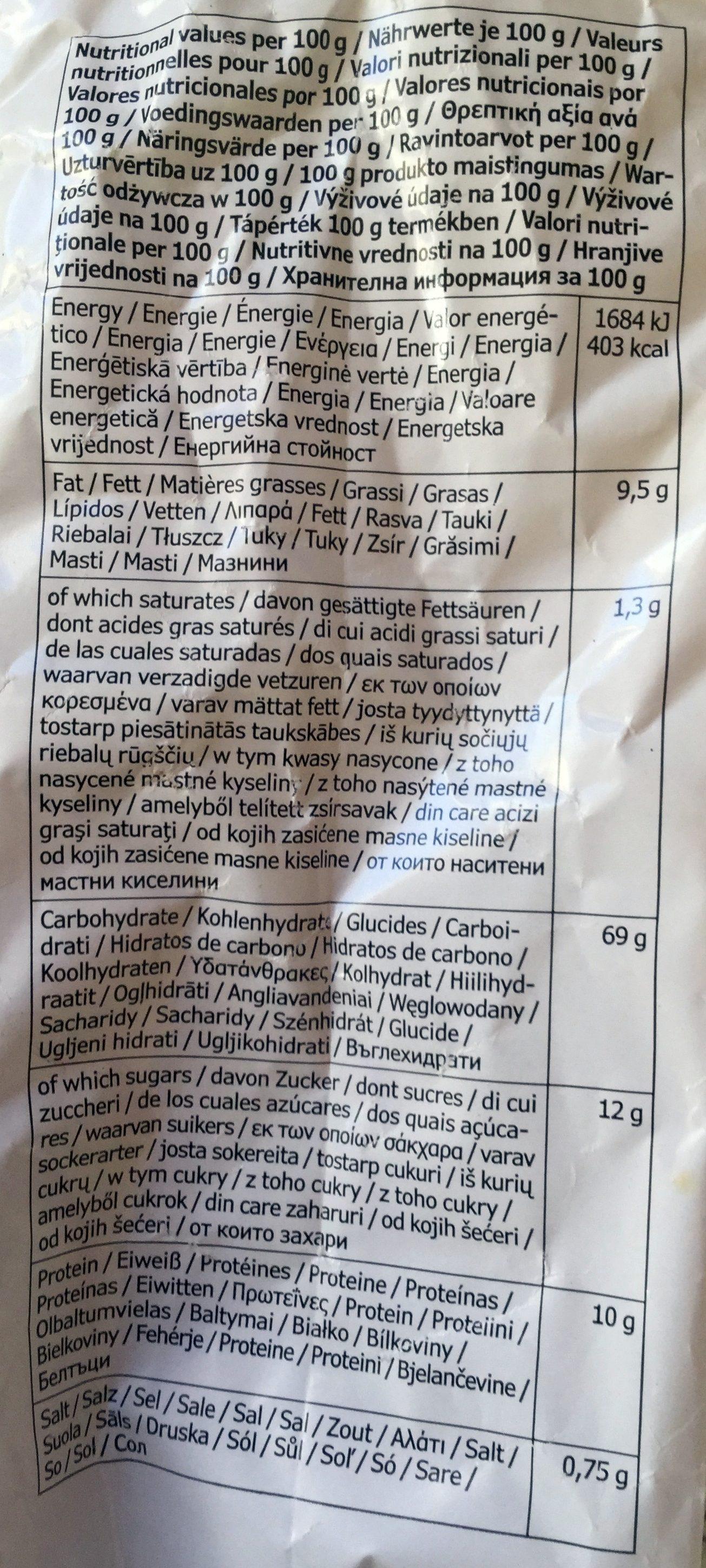 Skorpor kardemumma - Voedingswaarden - fr