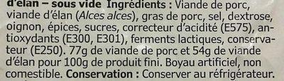 Vilt Korv - Ingrediënten