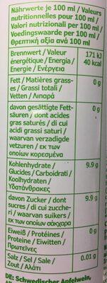 Cidre de pomme - Ingrédients