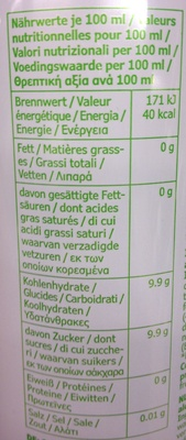 Cidre de pomme - Nutrition facts