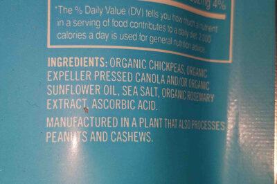 Crunchy chickpeas - Ingredients - en