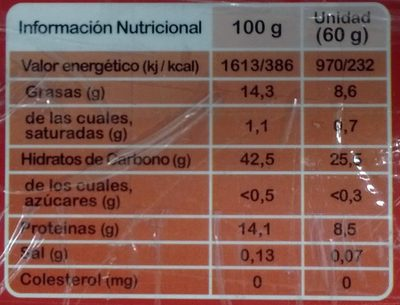 Ros fit - Nutrition facts - fr
