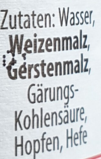 Weizen alkoholfrei - Ingredients - de
