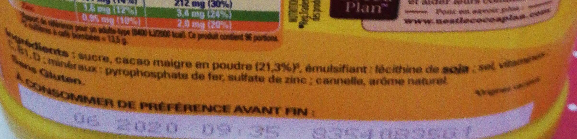 Nesquik - Ingredients - fr