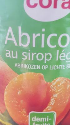 abricots au sirop léger - Produit