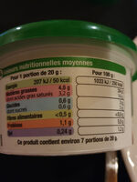 fromage ail & fines herbes - Informations nutritionnelles - fr