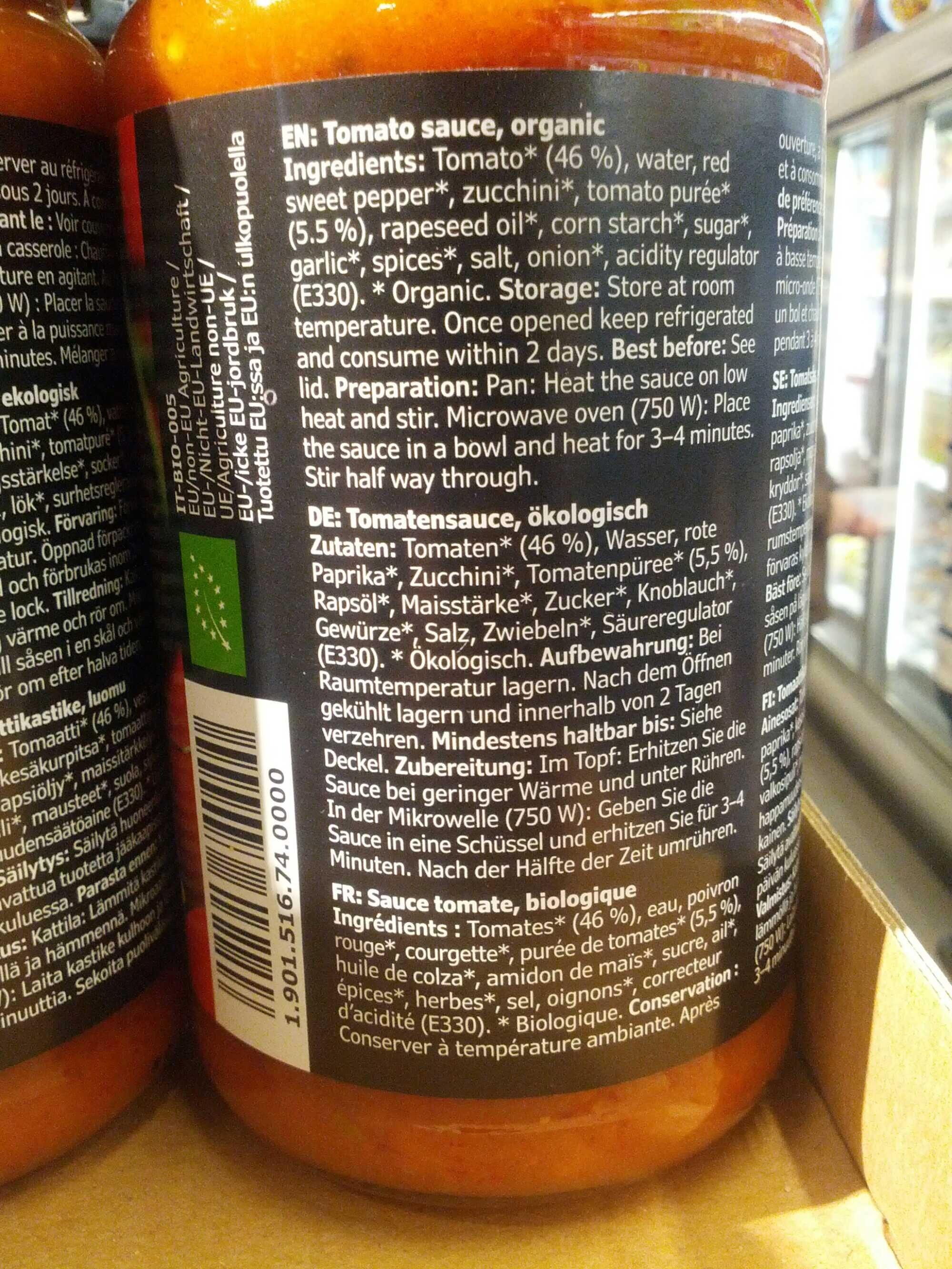 Ekologisk Sas Tomat - Ingrédients