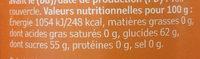 Sylt Hjortron - Nutrition facts