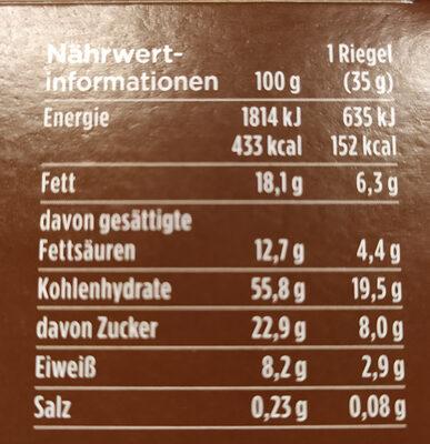 Corny Haferkraft Kakao - Nutrition facts - de