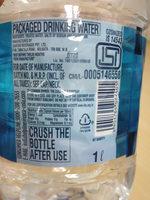 kinley mineral water - Nutrition facts - en