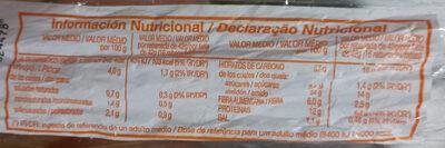 oroweat com sementes  sesamo e linhaça - Informations nutritionnelles - pt