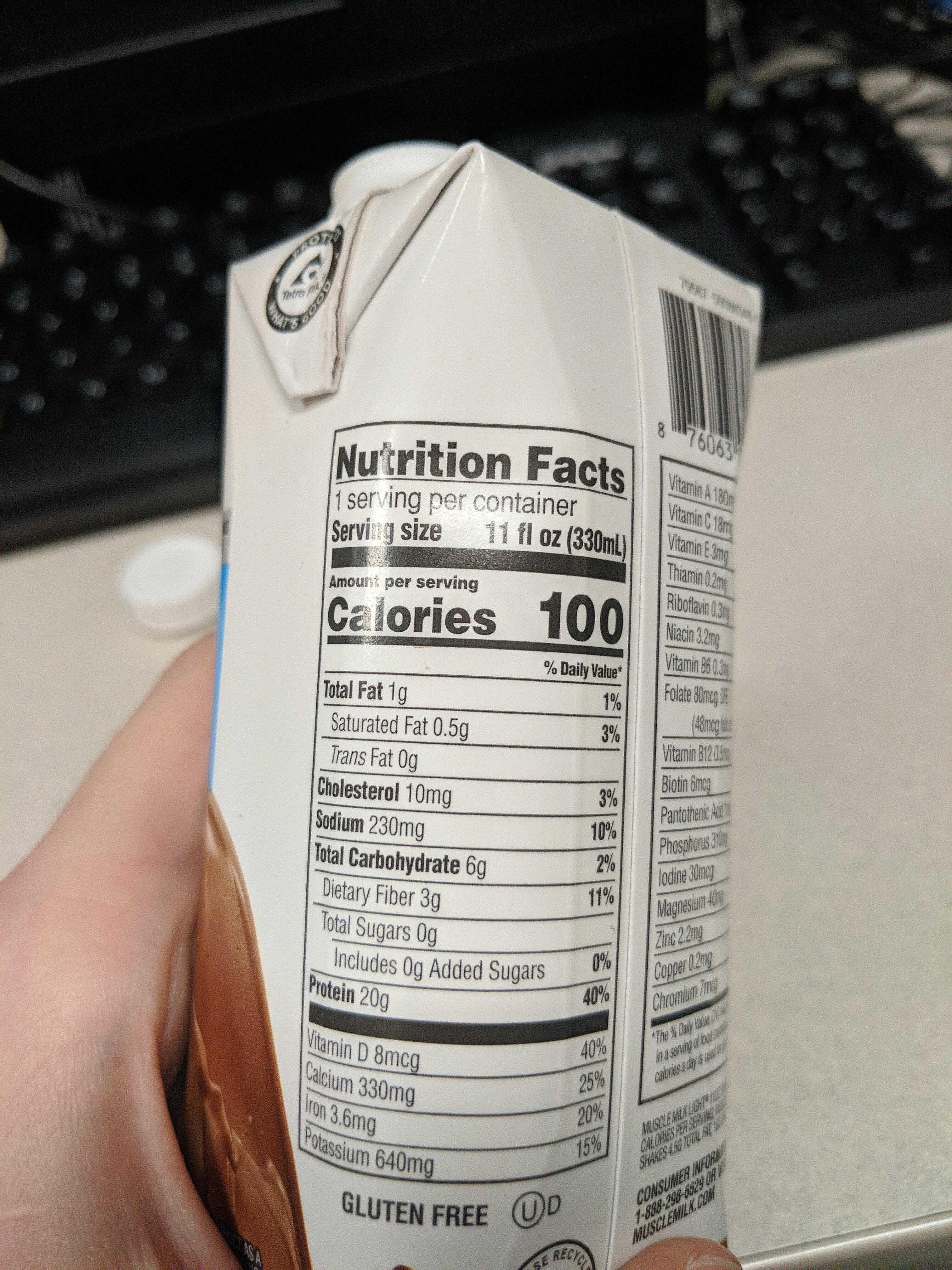 Loading… - Informations nutritionnelles - en