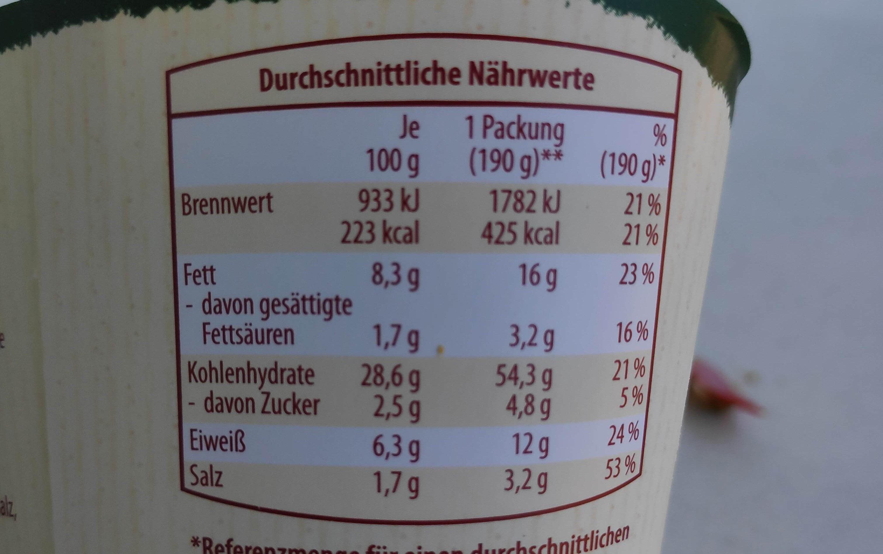 Wrap Falafel mit Humus - Voedingswaarden - de